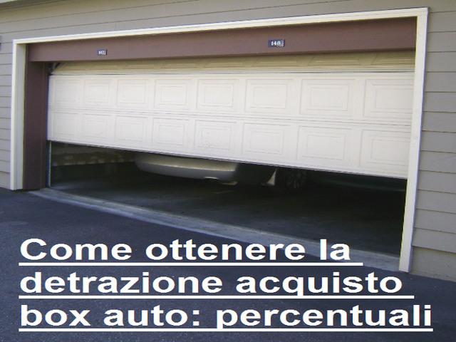 Come ottenere la detrazione acquisto box auto