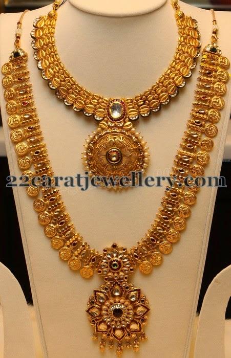 Gold Haram Designs By Manepally Jewellery Designs