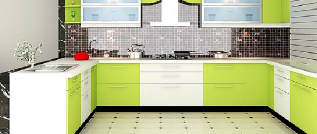 Modular Kitchen Cabinet Green