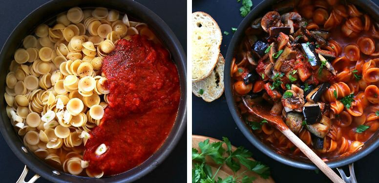 16 Vegan One-Pot Recipes If Your Are Considering Cutting Animals Out Of Your Diet - Vegan Eggplant Pasta