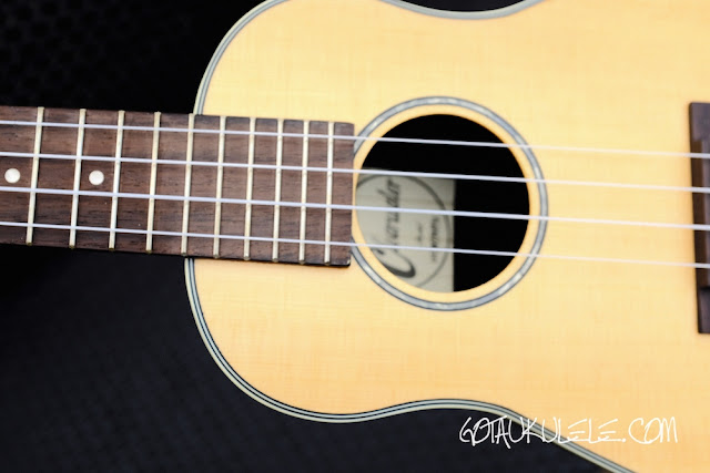 Clearwater roundback concert ukulele sound hole