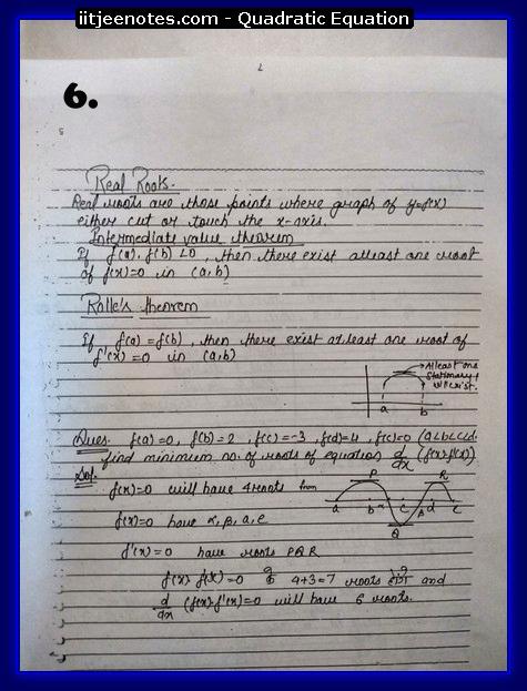Quadratic Equation Notes-Maths7