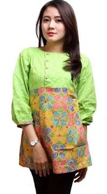 Desain Baju Batik Kantor Remaja Wanita