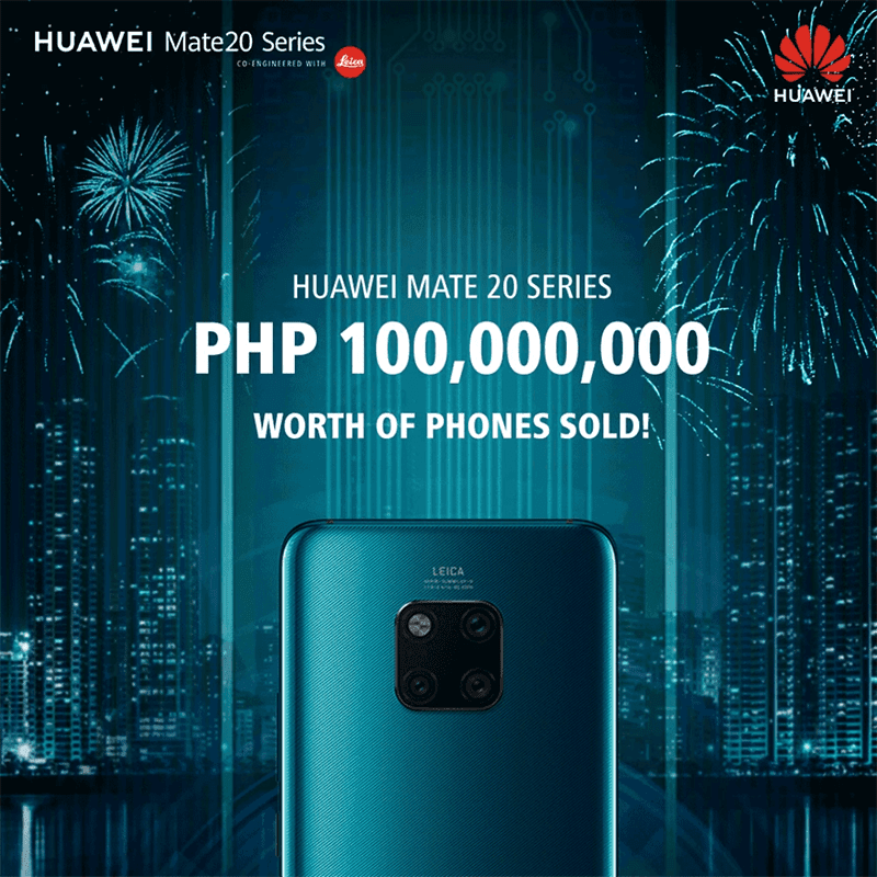 Huawei sold PHP 100 million worth of Mate 20 phones in PH in just 1 day!