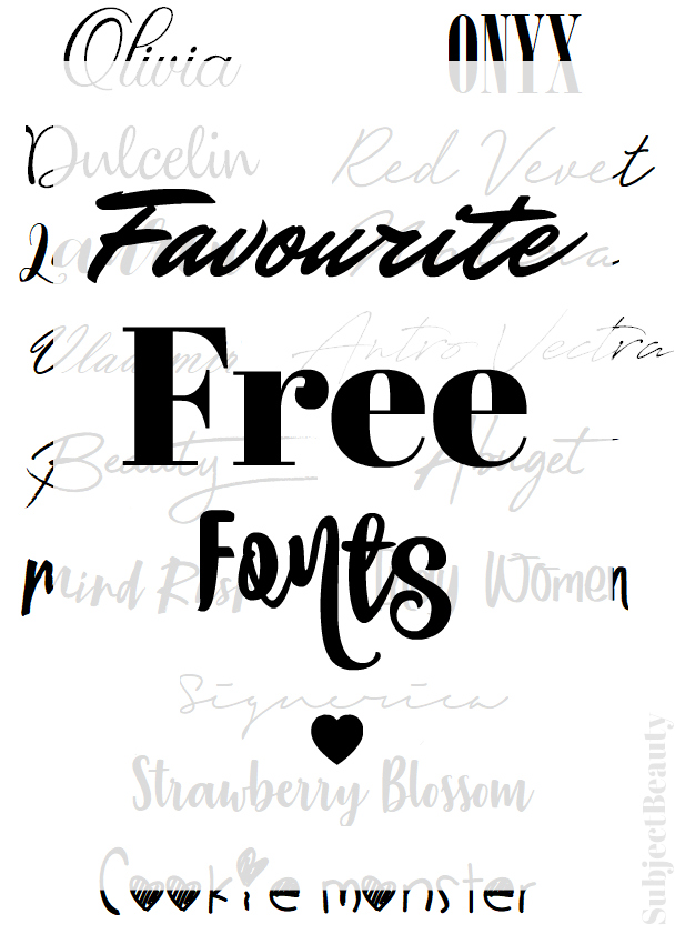 Favourite Free Fonts