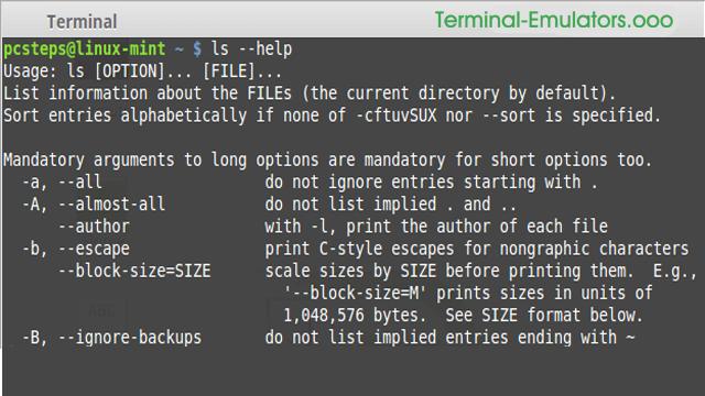 Terminal Emulator Commands Pdf