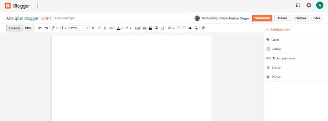 mengaktifkan search description seo blogger