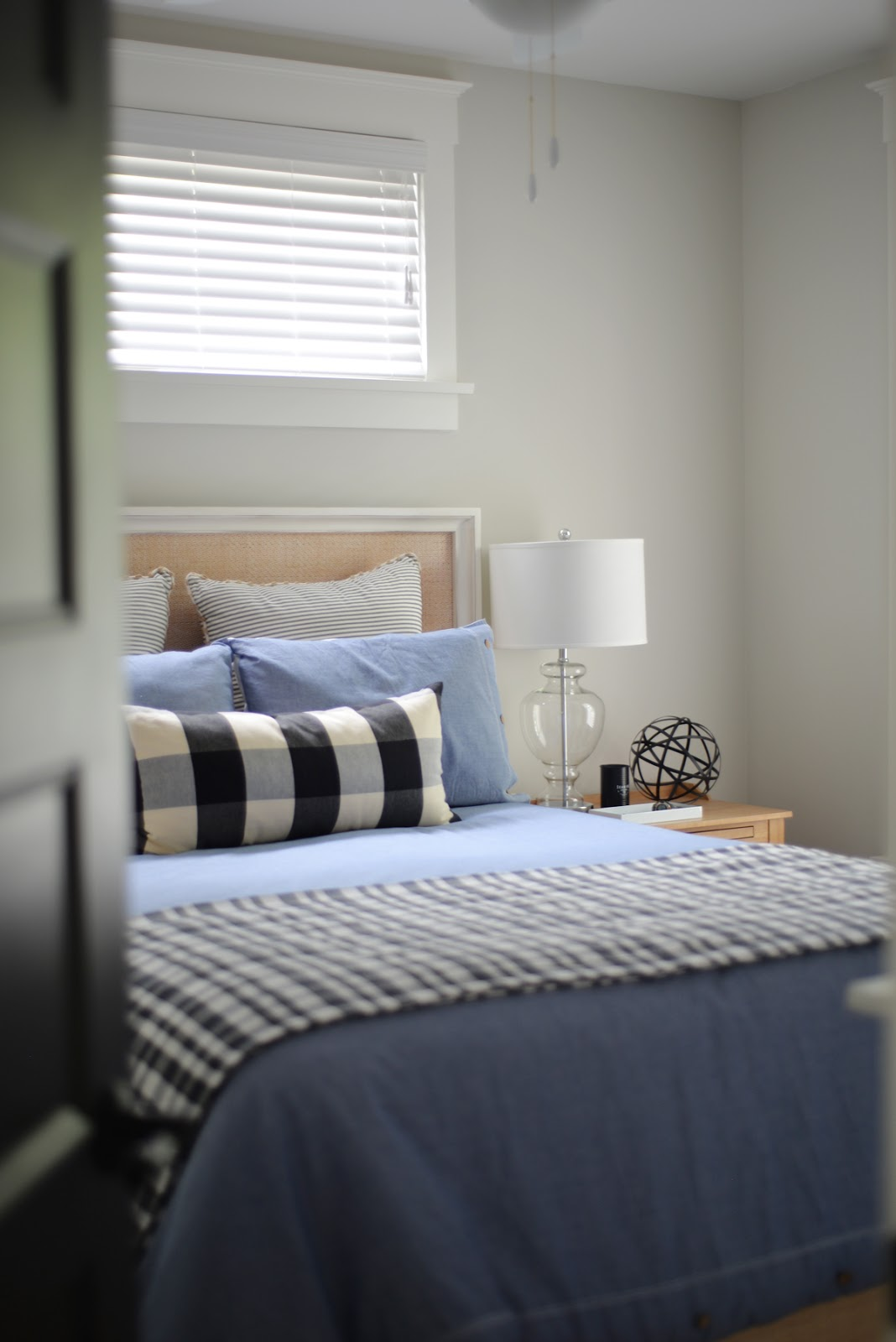 modern country bedroom, buffalo check | Ramblingrenovators.ca
