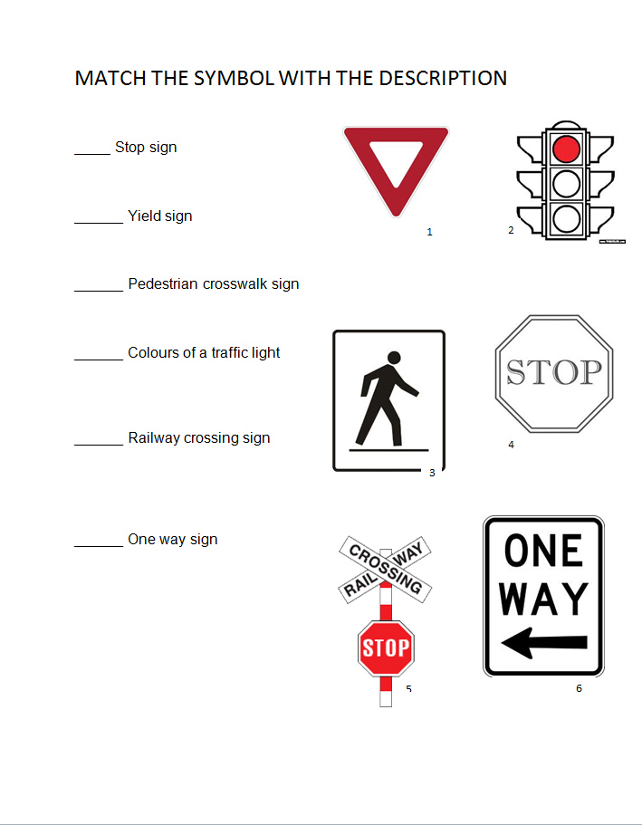 Printables Safety Signs Worksheet warning and safety signs worksheets vector images printable traffic on worksheets