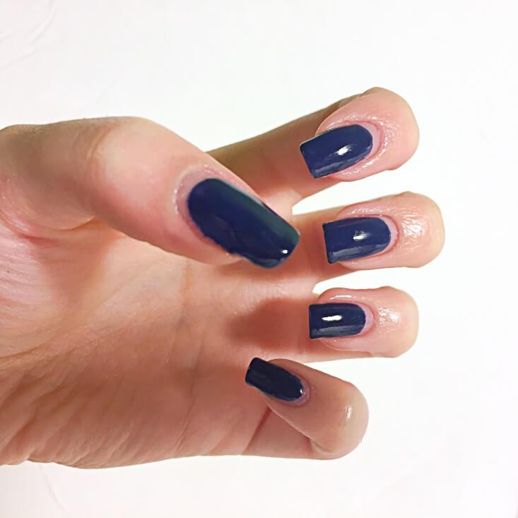 Finished basic manicure