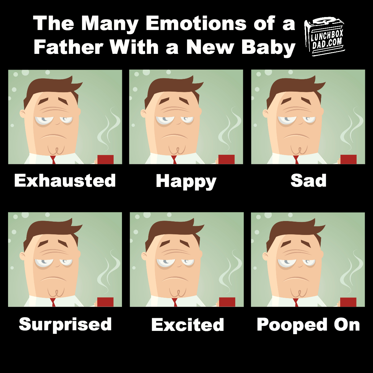 The Many Emotions of a Father with a New Baby