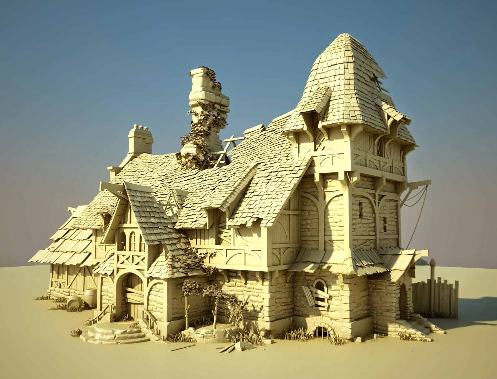 The Art Blog of Toby Lewin: Environment Modeling