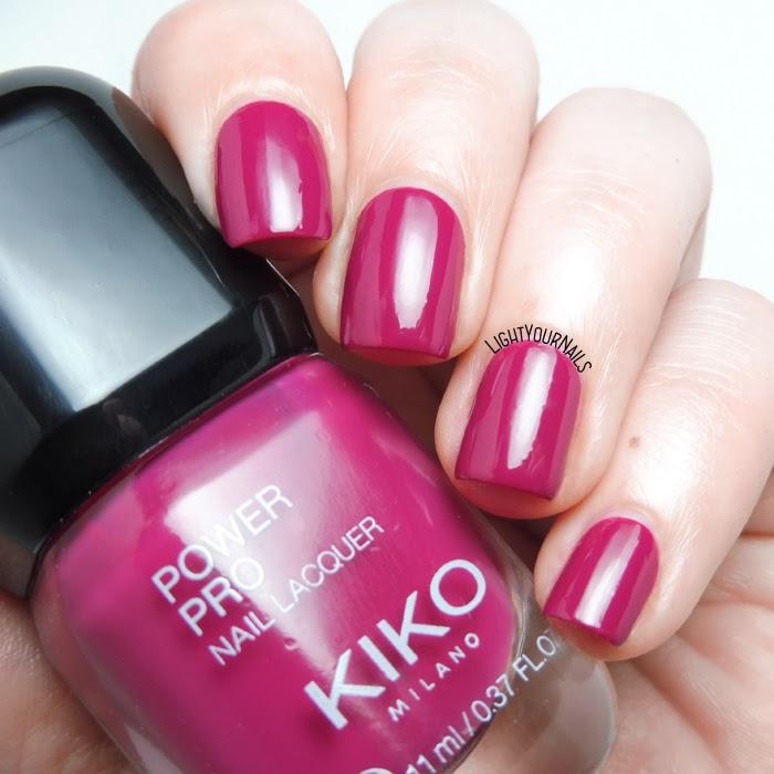 Smalto lampone Kiko Power Pro 111 Sweet Raspberry creme nail polish #kikonails #kikocosmetics #kikotrendsetter #lightyournails