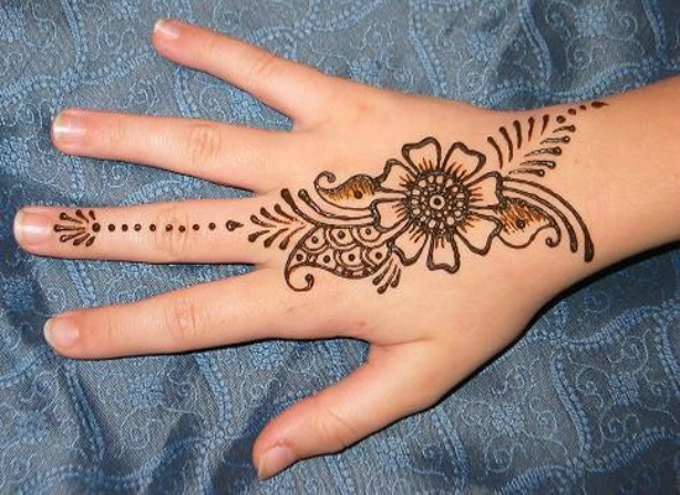 Indian Flower Mehndi Designs For Hands