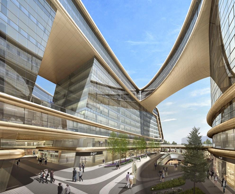 Design Sky SOHO In Shanghai. China by Zaha Hadid Architects