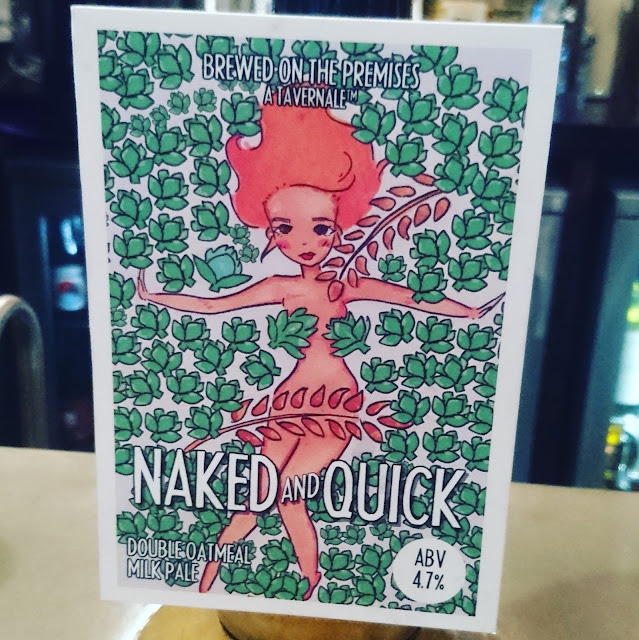 Northumberland Craft Beer Review: Naked and Quick from the Bridge Tavern in Newcastle real ale pump clip