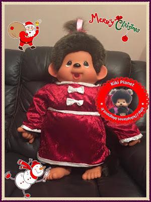 Robe de Noël pour Monchhichi 80 cm, couture, handmade, costume, monchhichi géante