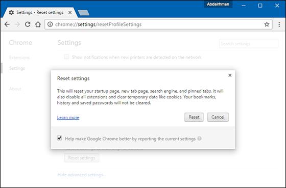 كيفية-إسترجاع-الاعدادات-الافتراضية-Reset-متصفح-جوجل-كروم