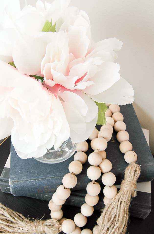Spring Decorating with Dollar Tree Peonies