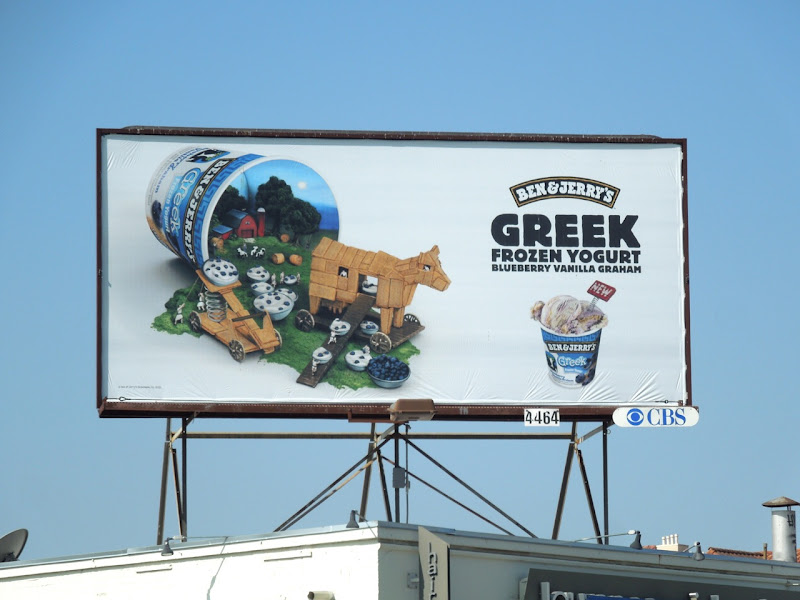 Ben Jerrys Greek Frozen Yogurt Blueberry billboard
