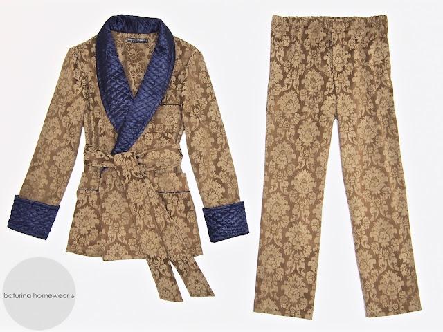Men's pajama set with robe cotton silk luxury loungewear pajamas dressing gown large sizes