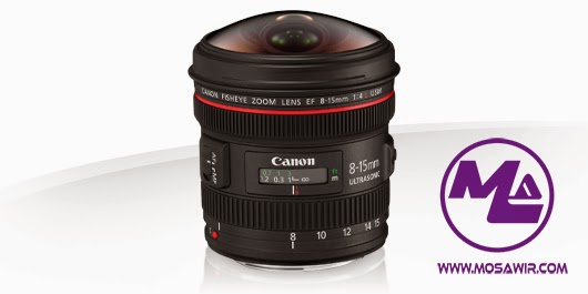 عدسة كانون: EF 8-15mm f/4L Fisheye USM