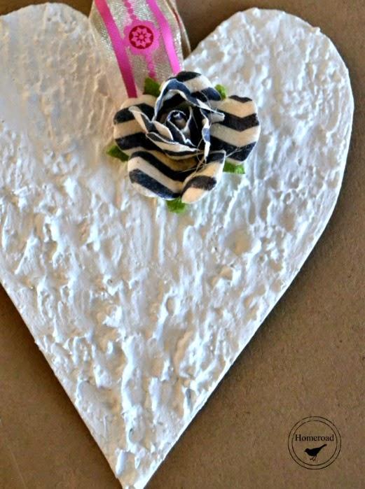 Textured Paint Tin Hearts