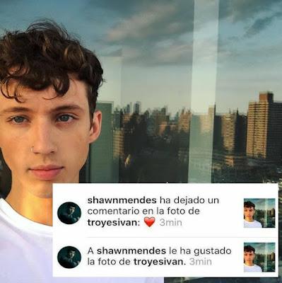 Shawn Mendes dio muestras de cariño a Troye Sivan en Instagram