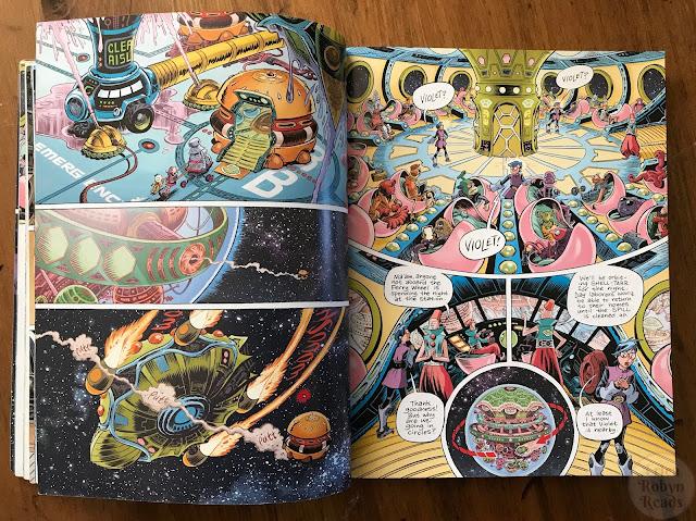 Space Dumplins by Craig Thompson, vibrancy