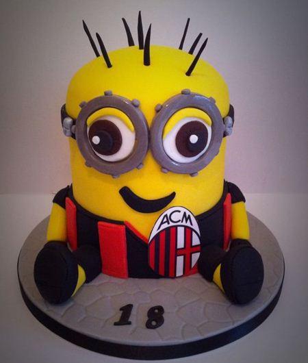 Foto Kue Ulang Tahun AC Milan