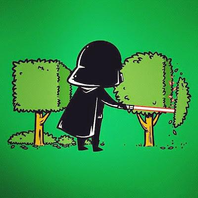 Darth Vader artista de la jardinería