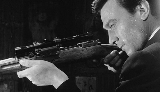 Lawrence Harwey killer in The Manchurian Candidate (1962)