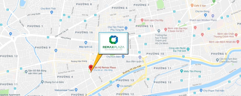 Bản đồ vị trí căn hộ hạnh phúc - CĂN HỘ REMAX PLAZA QUẬN 6