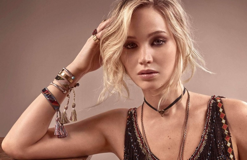 Jennifer Lawrence wears Dior jewelry
