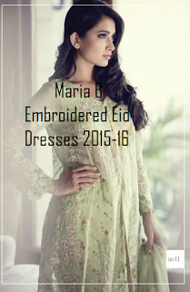 5e5fe2e2f0 Moreover, organza, silk fabrics are also used for Maria B embroidered eid  dresses 2015 for women.