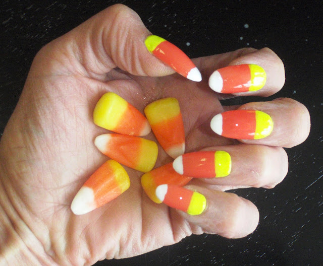 candy corn nail designs