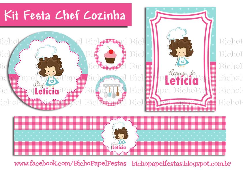 kit festa chef cozinha