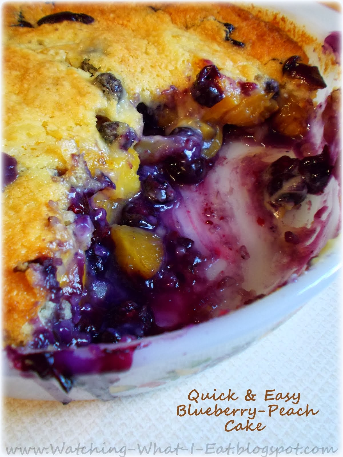 Quick Easy Makeup Tips Ideas For Work: Watching What I Eat: Quick & Easy Blueberry-Peach Cake