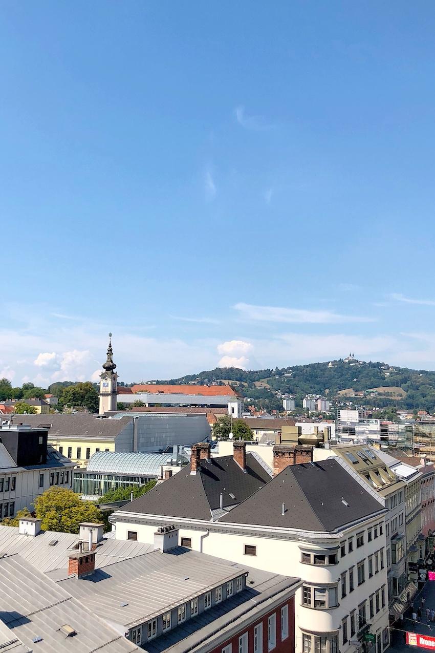 Ausblick Richtung Pöstlingberg