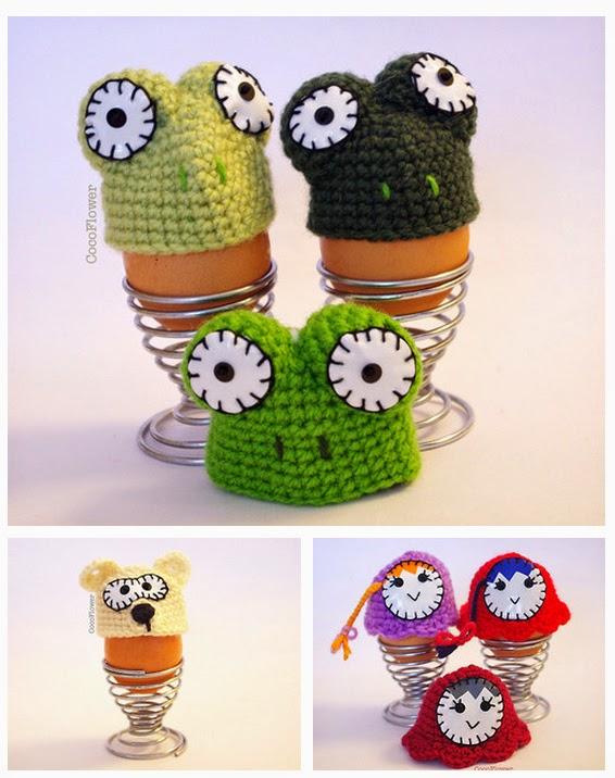 décoration de Pâques chapeau d'oeuf, couvre oeuf, au crochet fait par cocoflower - cocoflower.net