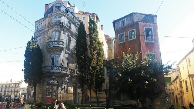 Place Edouard Adam montpellier trompe l'oeil