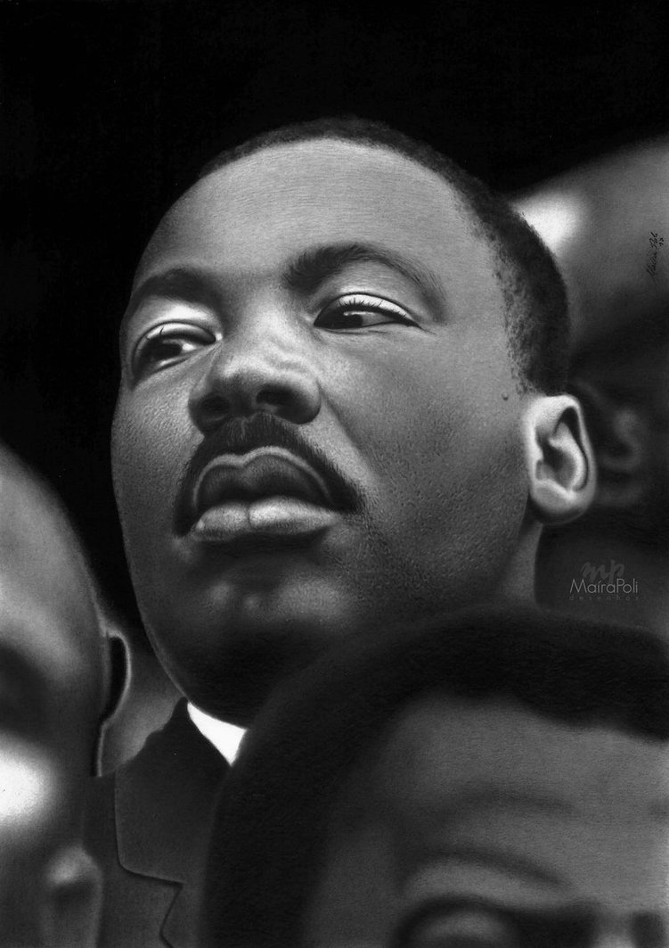 04-Martin-Luther-King-Jr-Maíra-Poli-Mahbopoli-Black-and-White-Realistic-Pencil-Celebrity-Portraits-Drawings-www-designstack-co