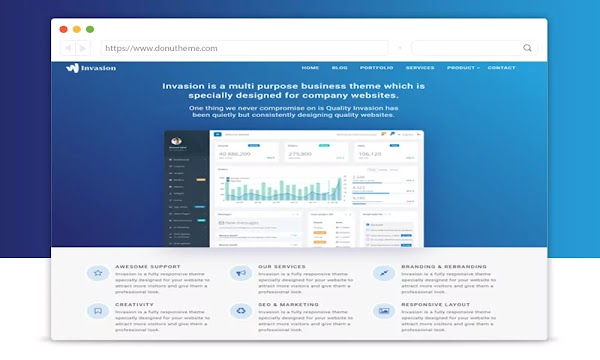 Invasion Landing Page Blogger Template