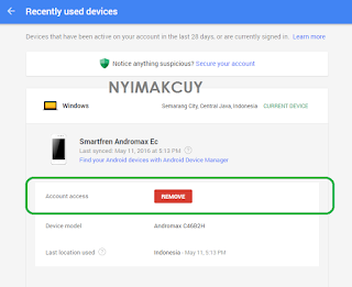 Security - Device NyimakCuy