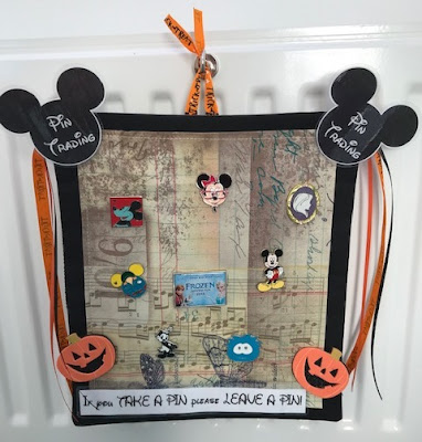 Disney pin fabric trading board