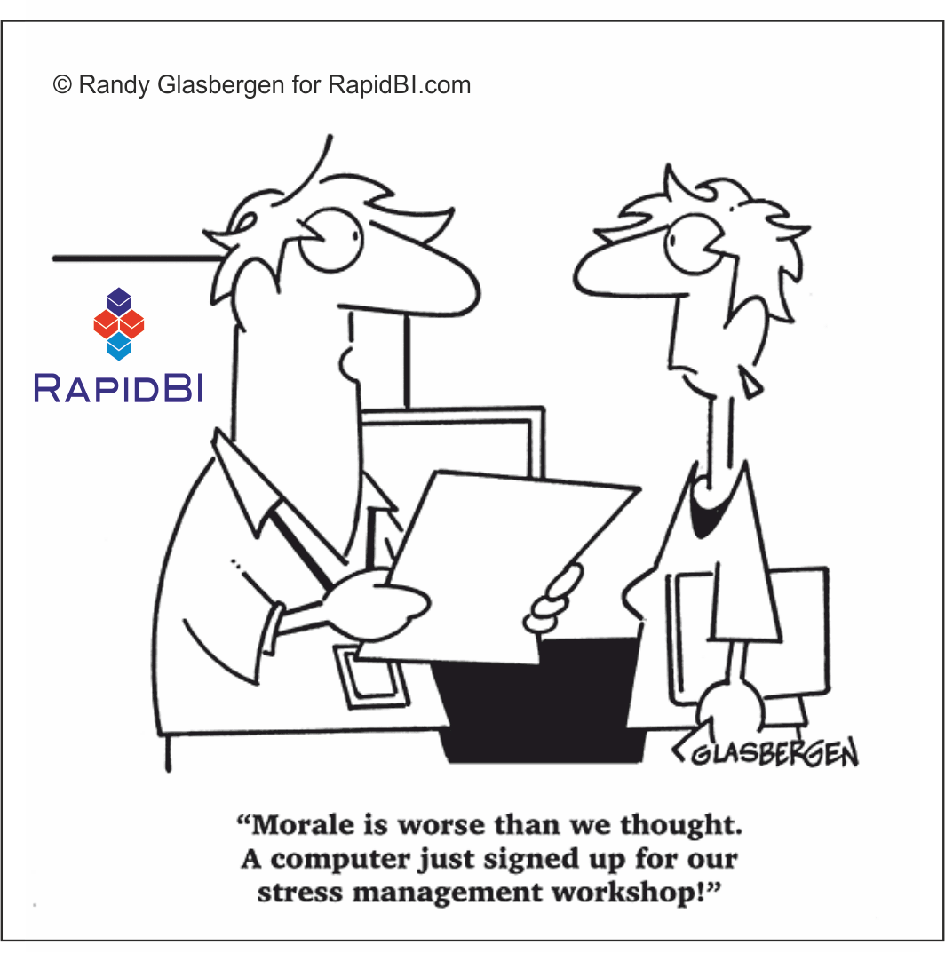 Stress Management on Computer Funny Humor Cartoons