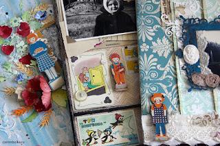 Конкурс Скрапбукер года 2016. Автор работ Carambolka. Три скрап-странички о детстве.