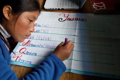 Erika en el proyecto de Cusco