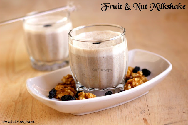 Fruit and Nut Milkshake