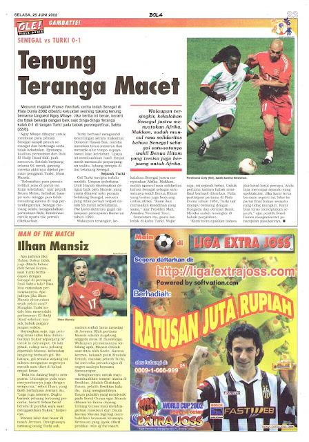 SENEGAL VS TURKI 0-1 TENUNG TERANGA MACET